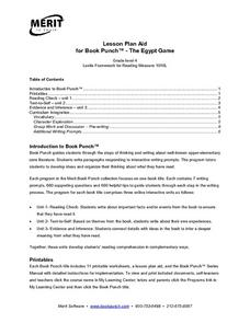 Lesson Plan Aid for Book Punch- The Egypt Game Lesson Plan