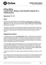 Lesson Plan: Doing a Cost–Benefit Analysis for a Mobile Phone Lesson Plan