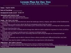 Lesson Plan for Day Two Part One of Unit on Bless Me, Ultima Lesson Plan