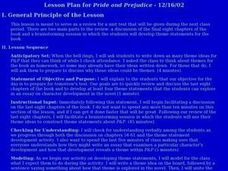 Lesson Plan for Pride and Prejudice Lesson Plan