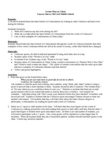 Lesson Plan on China Lesson Plan