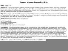 Lesson plan on Journal Article. Lesson Plan