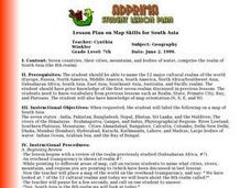 Lesson Plan on Map Skills for South Asia Lesson Plan