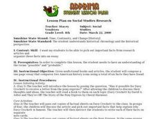 Lesson Plan on Social Studies Research Lesson Plan