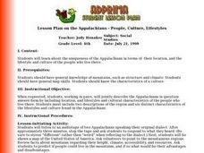 Lesson Plan on the Appalachians - People, Culture, Lifestyles Lesson Plan