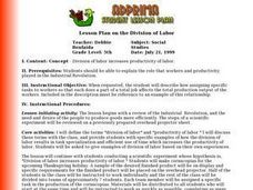 Lesson Plan on the Division of Labor Lesson Plan