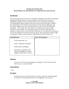 Lesson Plan on the Theory of Comparative Advantage Lesson Plan