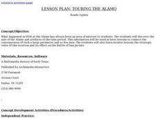 Lesson Plan:  Touring The Alamo Lesson Plan
