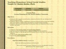 Lesson Planning For The Social Studies Classroom Lesson Plan