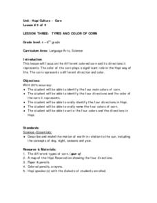 Lesson Three: Types And Color of Corn Lesson Plan
