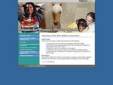 Lessons for Women's History Month Lesson Plan