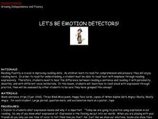 Let's Be Emotion Detectors! Lesson Plan
