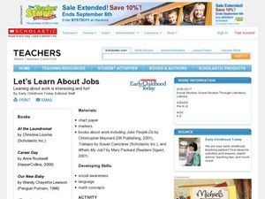 Let's Learn About Jobs Lesson Plan