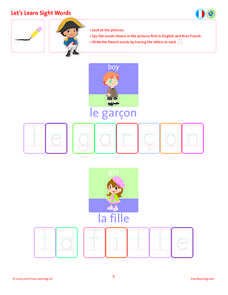 Let's Learn Sight Words: Boy an Girl Lesson Plan