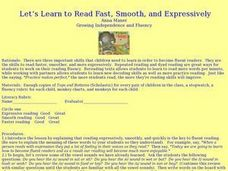 Let's Learn to Read Fast, Smooth, and Expressively Lesson Plan