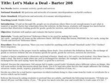 Let's Make a Deal- Barter 208 Lesson Plan
