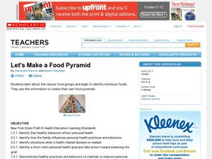 Let's Make a Food Pyramid Lesson Plan