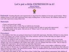 Let's Put a Little EXPRESSION in it! Lesson Plan