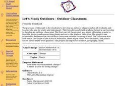Let's Study Outdoors - Outdoor Classroom Lesson Plan