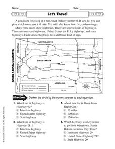 Let's Travel Worksheet