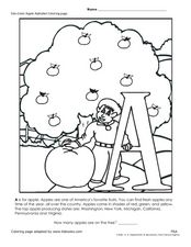 Letter A Coloring Page Worksheet