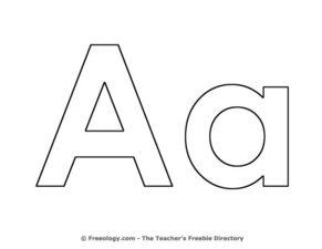 Letter Aa Pre-K - 1st Grade Worksheet | Lesson Planet