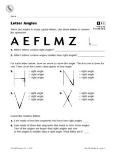Letter Angles Worksheet