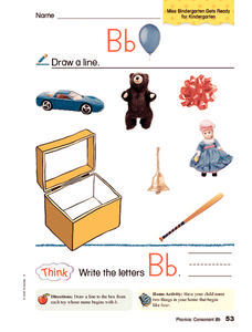 Letter B Pictures Worksheet
