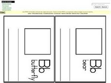 Letter B Words: Definitions and Drawings for Mini Book Worksheet