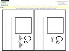 Letter C Mini-Book Pages Worksheet