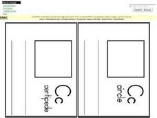 Letter C Pages for Mini Book Worksheet