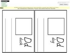 Letter D Book Worksheet
