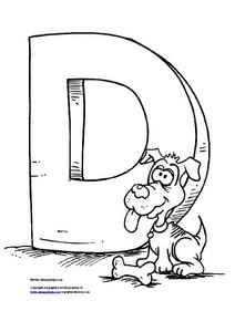 Letter D for Dog Worksheet