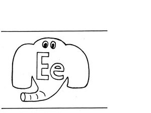 Letter E Flashcard Worksheet