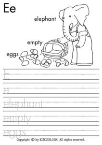 Letter Ee Lesson Plan