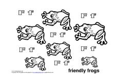 Letter Ff: Friendly Frogs Worksheet