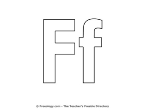 Letter Ff Worksheet