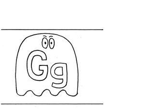 Letter G Flashcard Worksheet