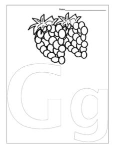 Letter Gg is for Grape Worksheet