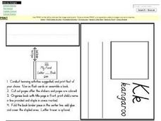 Letter K Mini Book Pages Worksheet