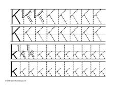 Letter Kk Tracing Worksheet