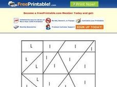 Letter L Mystery Picture Worksheet