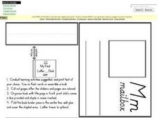 Letter M Words: Illustrations and Definitions Worksheet
