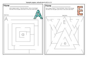 Letter Mazes Worksheet