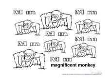 Letter Mm: Magnificent Monkey Worksheet