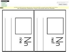 Letter N Word Pages for Mini Book Worksheet
