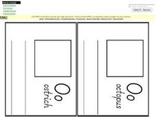 Letter O Pages for Mini Book Worksheet