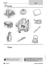 Letter P Pictures Worksheet