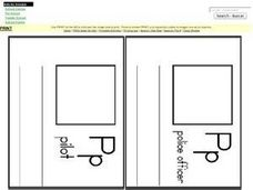 Letter P Words: Illustrations and Definitions Worksheet