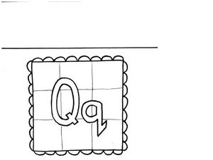 Letter Q Flashcard Worksheet
